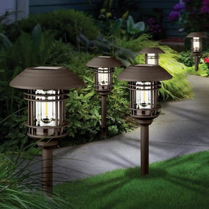 NATURALLY SOLAR LED VINTAGE STYLE PATHWAY LIGHTS 8-PK