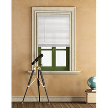 "Load image into Gallery viewer, MAINSTAYS CORDLESS 1"" VINYL LIGHT FILTERING BLINDS WHITE 30X 64"