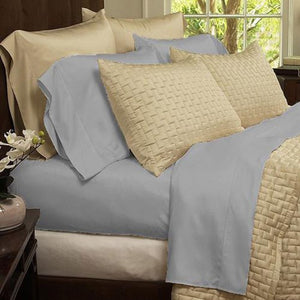 RAYON MADE FROM BAMBOO BED SHEETS SET TWIN- GRAY