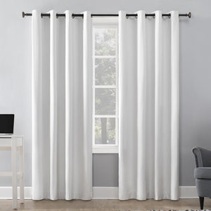 SUN ZERO DURAN THERMAL INSULATED 100% BLACKOUT GROMMET CURTAIN PAIR (50 X 84)