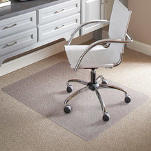 "Load image into Gallery viewer, ES ROBBINS CHAIR  MAT FOR FLAT/ LOW PILE CAROET, 46"" X 60"" NO LIP, CLEAR"