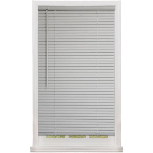 "MAINSTAYS 1"" CORDLESS ROOM DARKENING VINYL BLINDS GRAY (31X 72)"
