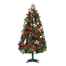 Load image into Gallery viewer, HOLIDAY TIME PRE-LIT CHRISTMAS TREE 5 FT WITH DECORATIONS, MULTI