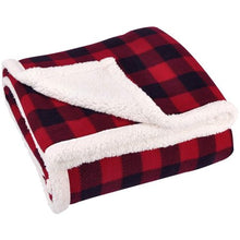 "Load image into Gallery viewer, SUNBEAM HEATED ELECTRIC MICROPLUSH THROW BLANKET, 60'x50"" , RED BUFFALO PLAID"