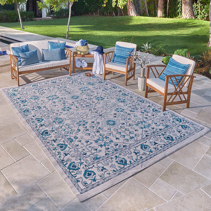 "VENICE INDOOR/ OUTDOOR AREA RUG COLLECTION, GATSBY (5'3"" X 7' 5"")"