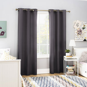 SUN ZERO 2- PACK ARLO TEXTURED THERMAL INSULATED GROMMET CURTAIN PAIR (40X 84)