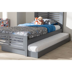 BAXTON STUDIO PAYTON MODERN AND CONTEMPORARY GREY-FINISHED TWIN TRUNDLE ONLY