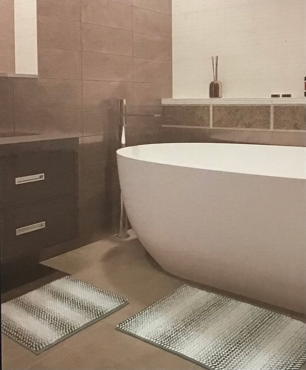 TOWN & COUNTRY SPA BATH RUG 2-PACK