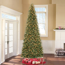 "Load image into Gallery viewer, HOLIDAY TIME PRE-LIT 12"" WILLIAMS PINE ARTIFICIAL CHRISTMAS TREE, CLEAR-LIGHTS"