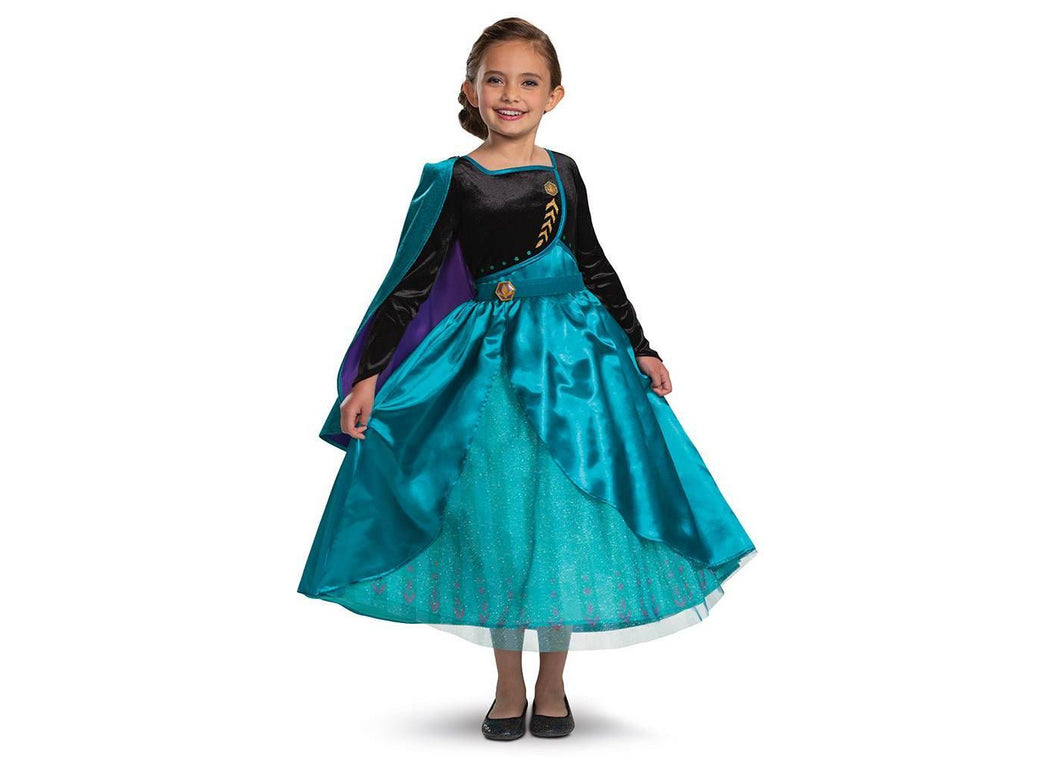 KID'S DELUXE DISNEY FROZEN 2 ANNA HALLOWEEN COSTUME DRESS SIZE: 3/4