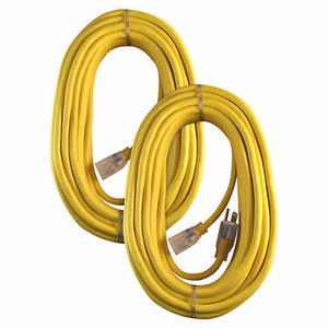 OUTDOOR 50 FT EXTENSION CORD , 2 PACK
