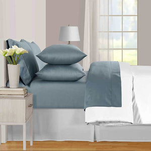 PURE EARTH ORGANIC COTTON 6- PIECE SHEET SET, CAL KING