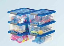 Load image into Gallery viewer, IRIS BUCKLE UP STORAGE SET 12.9 QT 6- PACK