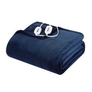 WELL BEING PLUSH ELECTRIC HEATED BLANKET, KING