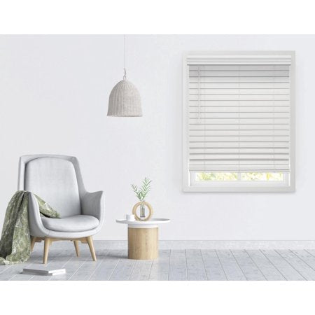 RICHFIELD STUDIOS 2.5 CORDLESS FAUX WOOD BLINDS, WHITE