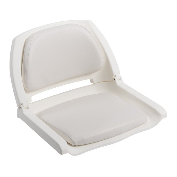 WISE 8WD139LS-710 CUSHIONED FOLD- DOWN MOLDED FISHING SEAT WHITE / WHITE