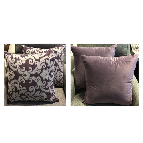 STUDIOCHIC DECORATIVE PILLOWS PURPLE 20 X 20 SET OF 2