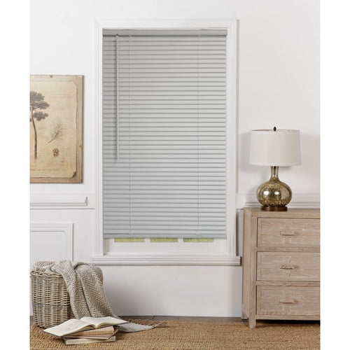 "MAINSTAYS 1"" CORDLESS ROOM DARKENING VINYL BLINDS, GRAY 35x48"