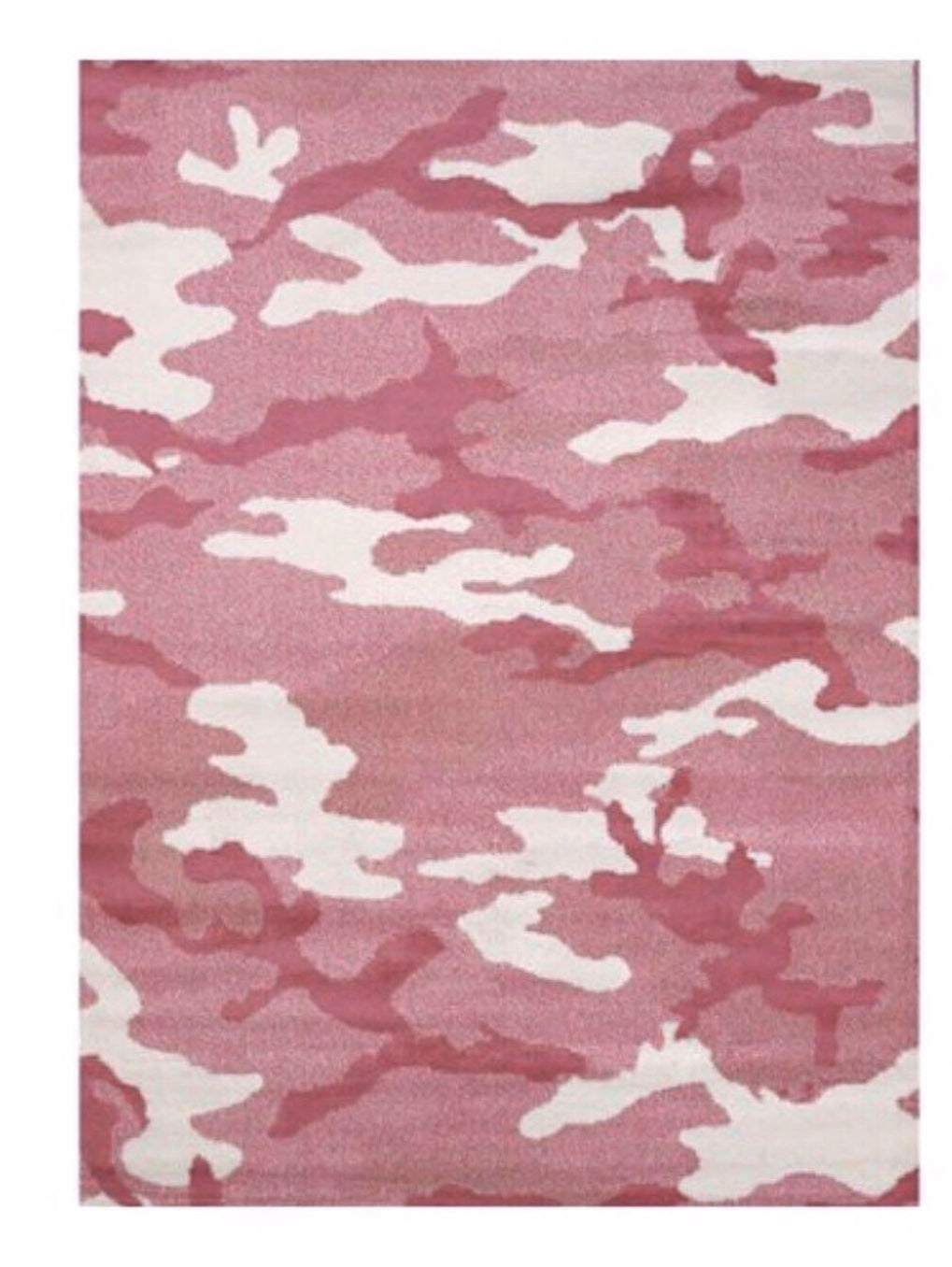 "UNITED WEAVERS GIRLY CAMO PINK WOVEN OLEFIN AREA RUG 5'3"" x 7'2"""