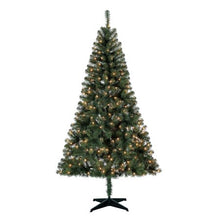 Load image into Gallery viewer, HOLIDAY TIME PRE-LIT 6.5 MADISON PINE GREEN ARTIFICIAL CHYTREE , CLEAR-LIGHTS