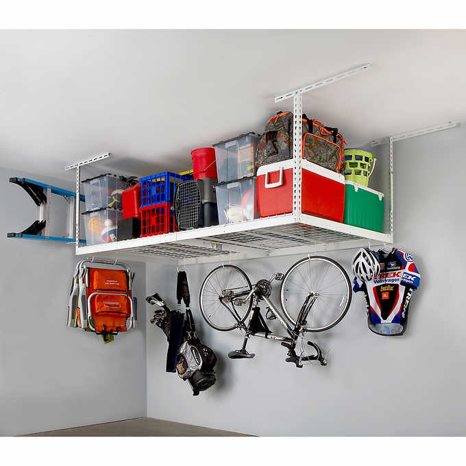 "SAFERACKS 4 FT. X 8 FT. OVERHEAD STORAGE RACK AND ACCESSORIES KIT 18"" - 33"""