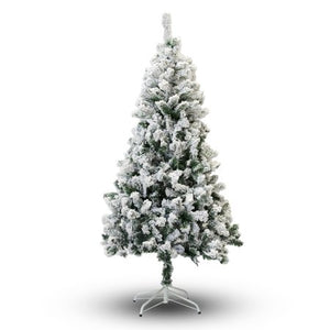 PERFECT HOLIDAY 8' SNOW FLOCKED ARTIFICIAL CHRISTMAS TREE