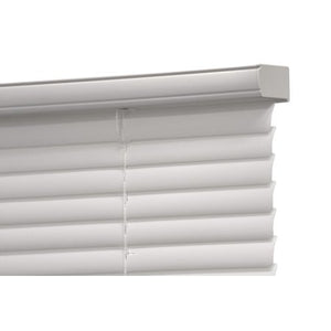 "MAINSTAYS CORDLESS 1"" VINYL LIGHT FILTERING BLINDS WHITE 30X 64"