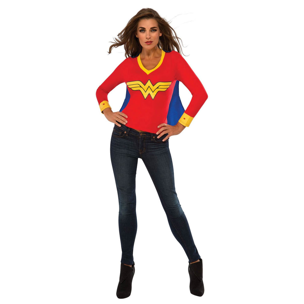 WOMENS WONDER WOMAN SPORTY TEE HALLOWEEN COSTUME SIZE: M