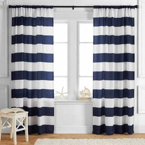 KIDS' AND TEENS STRIPES CURTAIN BY BETTER HOMES AND GARDENS OANEL PAIR (52 X 63)