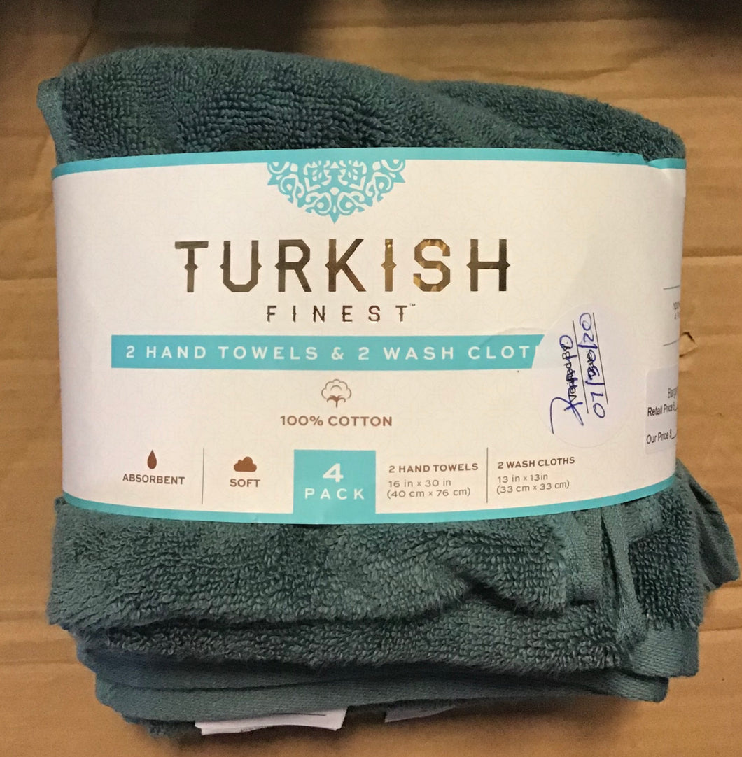 TURKISH FINEST 4 PIECE SET GREEN