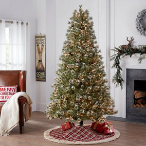HOLIDAY TIME PRE-LIT REDLAND SPRUCE ARTIFICIAL CHRISTMAS TREE 7.5 CLEAR