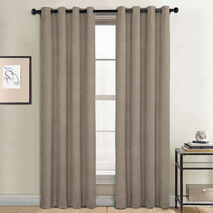 SUNBLK EVERLY TOTAL BLACKOUT WINDOW PANEL 2- PACK (52   X  84) KHAKI