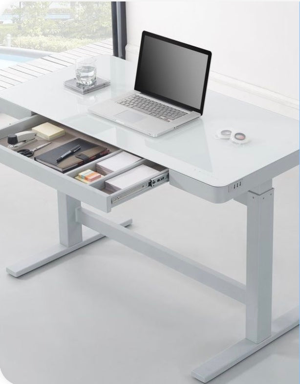 TRESANTI ADJUSTABLE HEIGHT DESK WHITE