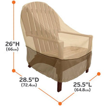 "Load image into Gallery viewer, VERANDA STANDARD PATIO CHAIR COVER 25.5 L x 28.5 D x 26"" H"
