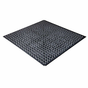 PLASTIPRO-LOC HEAVY DUTY GARAGE FLOOR TILES, BLACK