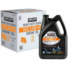 KIRKLAND SIGNATURE HEAVY- DUTY DIESEL 15W- 40 MOTOR OIL 1 GALLON , 3- PACK