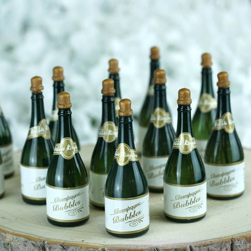 SMALL CHAMPAGNE BUBBLE FAVORS- WEDDING PARTY DECORATIONS ACCESSORIES 24 PC
