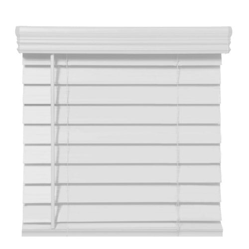"RICHFIELD STUDIOS 2.5"" CORDLESS FAUX WOOD BLINDS, WHITE (34.5 X 64)"