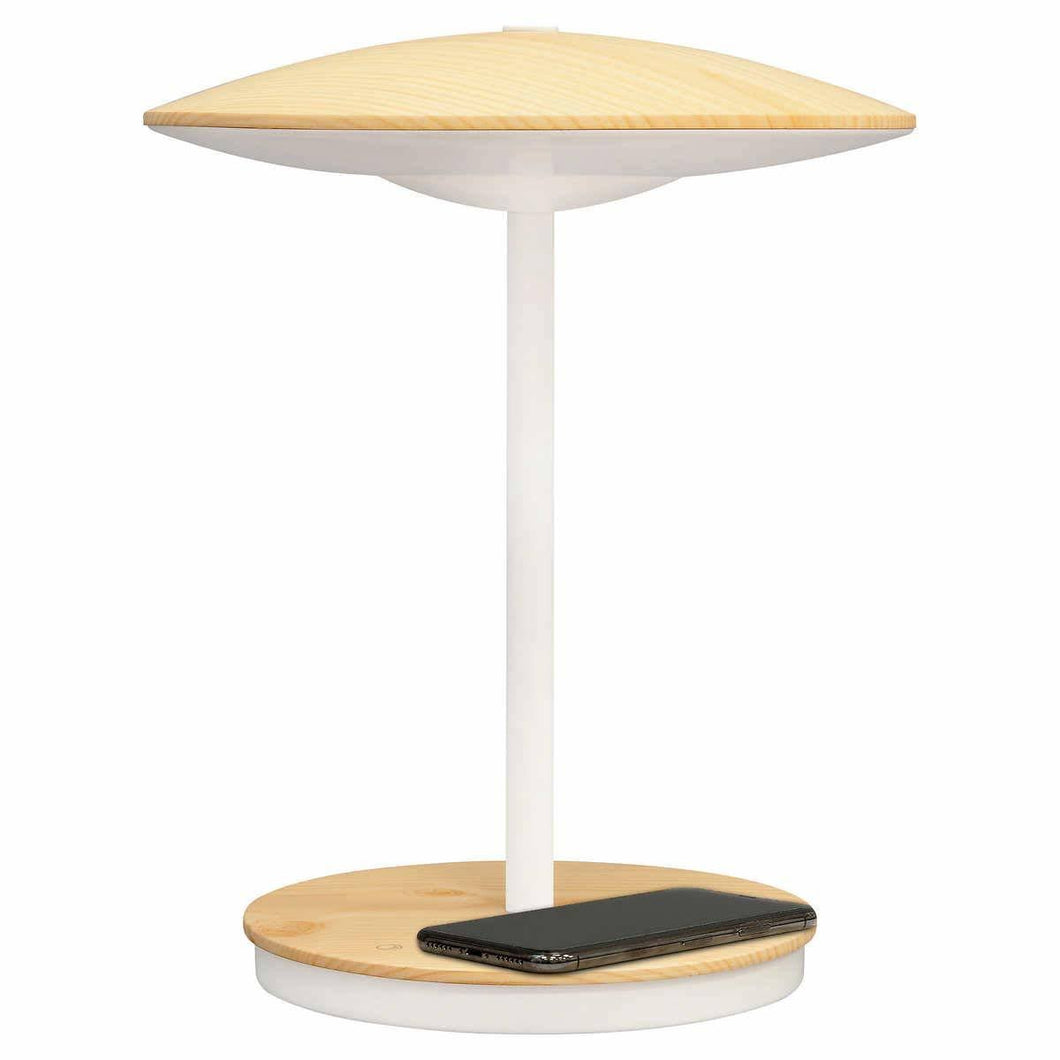 ULTRABRITE LED DESK LAMP WITH MOOD AND NIGHT LIGHT Qi WIRELESS CHARGING