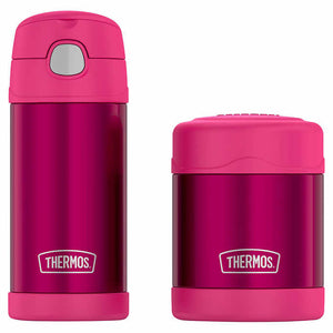 THERMOS FUNTAINER BOTTLE AND FOOD JAR LUNCH SET PINK