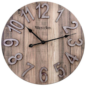"WESTCLOX 15.5"" FARMHOUSE WALL CLOCK"
