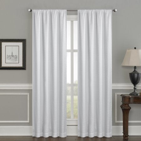 "CRESCENT DOUBLE LAYER TOTAL BLACKOUT ROD POCKET CURTAINS SET OF 2 52""x95"""