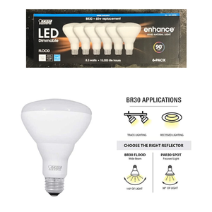 FEIT ELECTRIC LED BR30 FLOOD DAYLIGHT 6-PACK