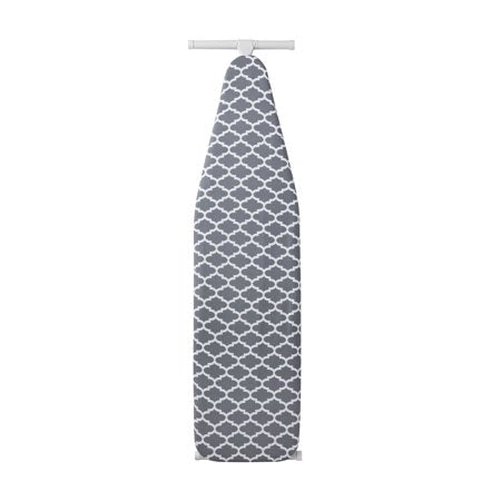 MAINSTAYS DELUXE LATTICE GREY REMOVABLE IRONING BOARD COVER
