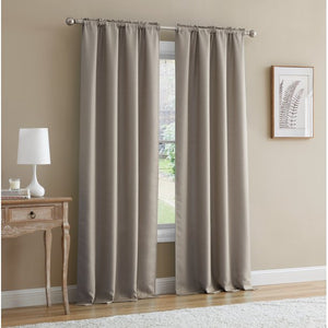 MAINSTAYS BENNETT TEXTURED CURTAIN, BROWN 40 X 84 INCH, SET OF (2 )
