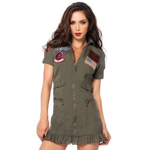 LEG AVENUE WOMEN'S TOP GUN PILOT DRESS COSTUME