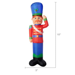 HOLIDAY TIME YARD INFLATABLES TOY SOLDIER 10 FT