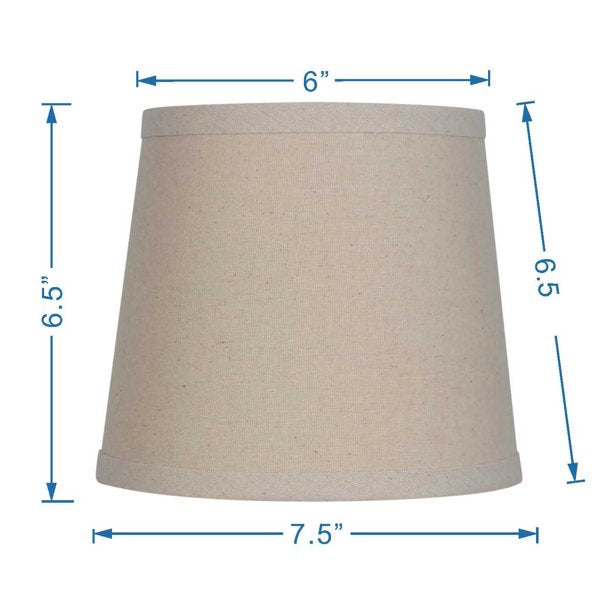MAINSTAYS TEXTURED ACCENT LAMP SHADE , BEIGE