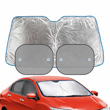 Load image into Gallery viewer, TYPE S WINDSHIELD SIKVER FOIL SUNSHADE 3- PIECE KIT 2- PACK