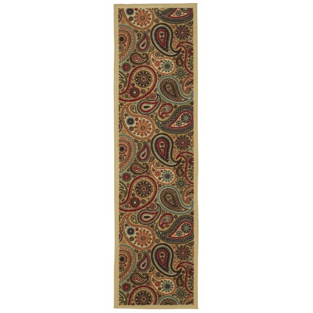 "OTTOMANSON OTTHOME COLLECTION CONTEMPORARY PAISLEY DESIGN MODERN NON SLIP 20"" X 59"""